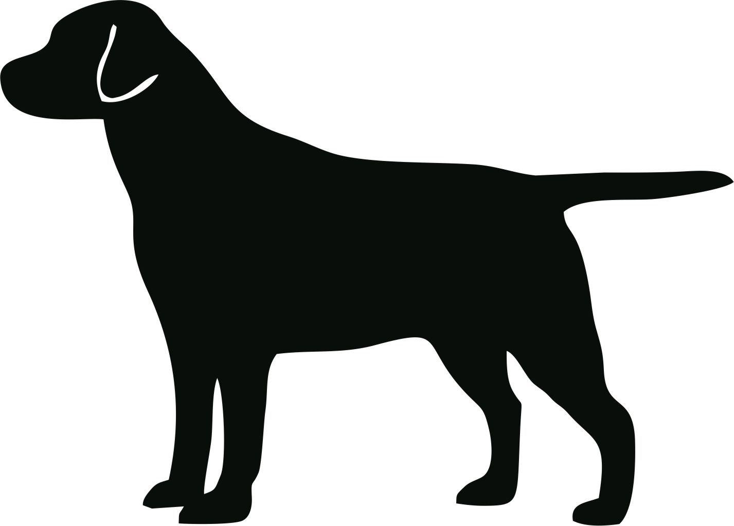 Clip Art Black Labrador .