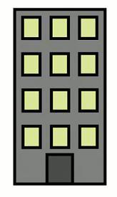 Clip Art Block of Apartments .