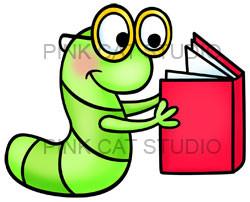Clip art bookworm-Clip art bookworm-15