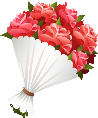 Clip Art Bouquet Of Flowers .