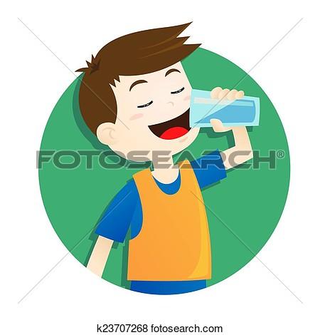 clip art boy drinking water-clip art boy drinking water-5