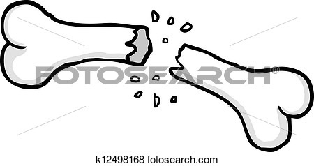 clip art broken bone