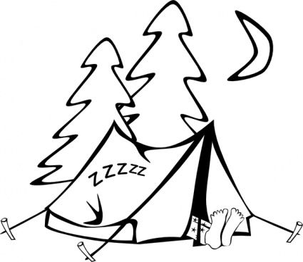 Clip Art Camping Outline | ... Camping T-clip art camping outline | ... camping tent camp activities tents sleeping in a-13