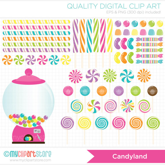 Clip Art u2013 Candy Land