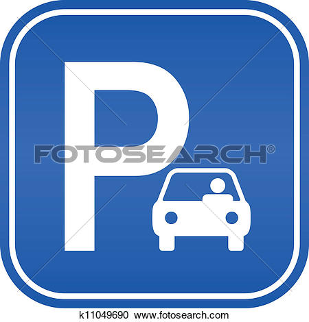 Clip Art. Car parking sign