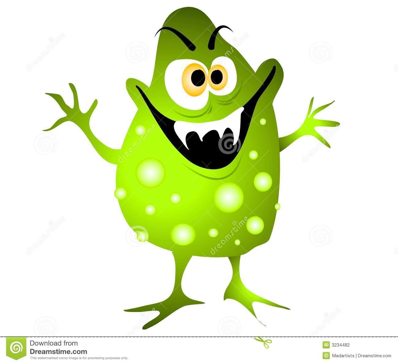 Clip Art Cartoon Illustration Of A Nasty-Clip Art Cartoon Illustration Of A Nasty Looking Germ Virus Or-15