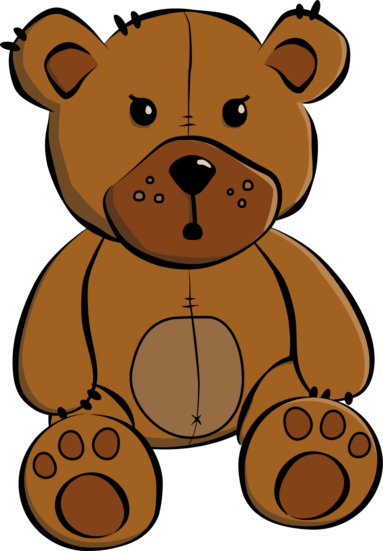 Clip art cartoon teddy bear .