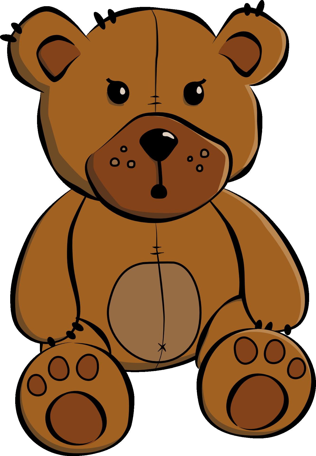 Clip Art Cartoon Teddy Bear .-Clip art cartoon teddy bear .-5