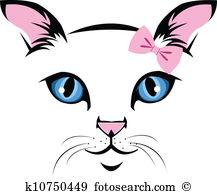 Clip Art. Cat face