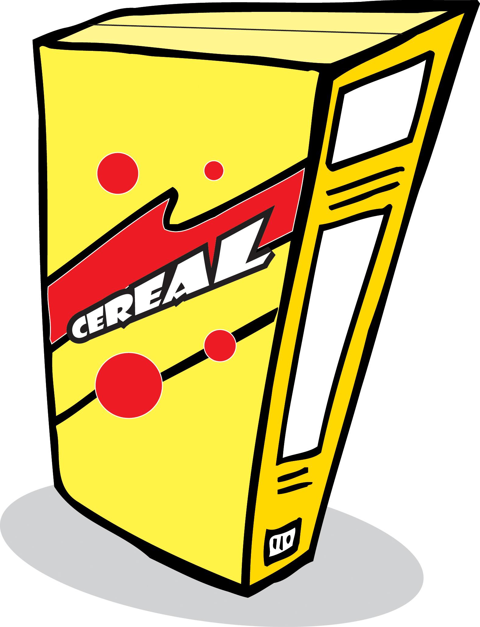 Clip Art Cereal Box Paper Recycling-Clip Art Cereal Box Paper Recycling-2