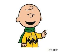 Clip art: Charlie Brown winter