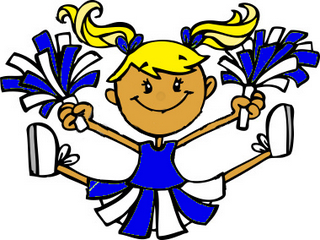 Clip art cheerleader free .