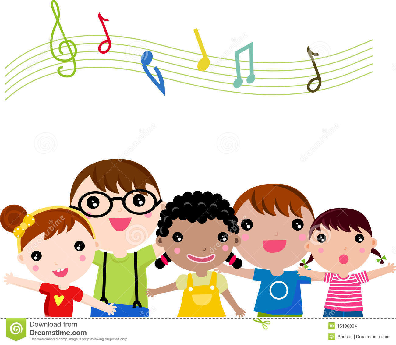 Clip Art Children Singing Children Singing Stock Images Image Image