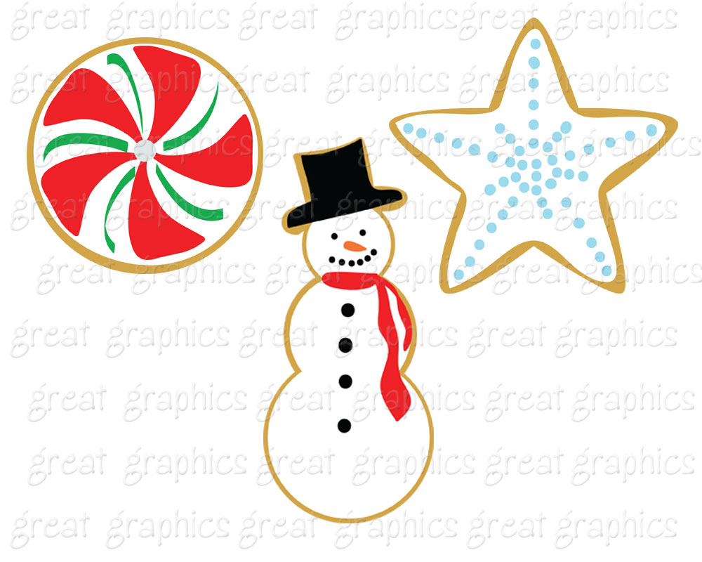 Clip Art Christmas Digital Printable Christmas Cookie Swap Clip Art