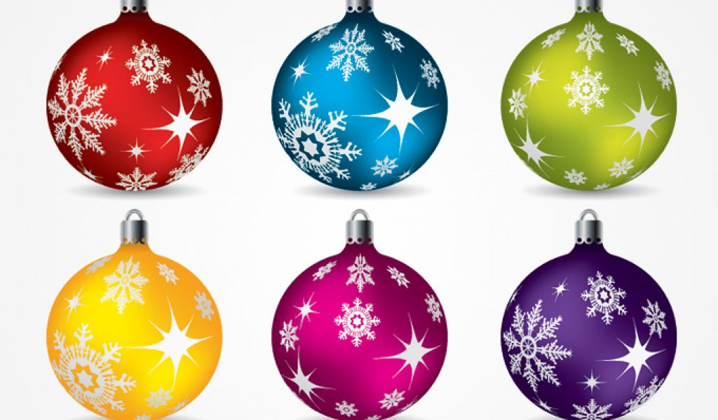 clip art christmas ornaments .