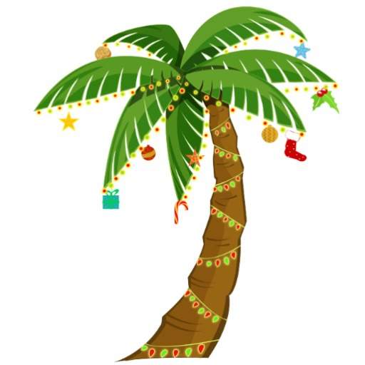 Clip art christmas palm tree .