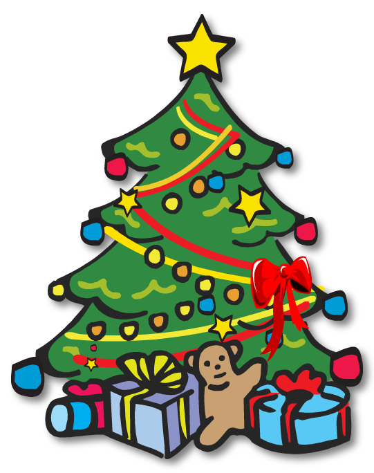 Clip Art Christmas tree.