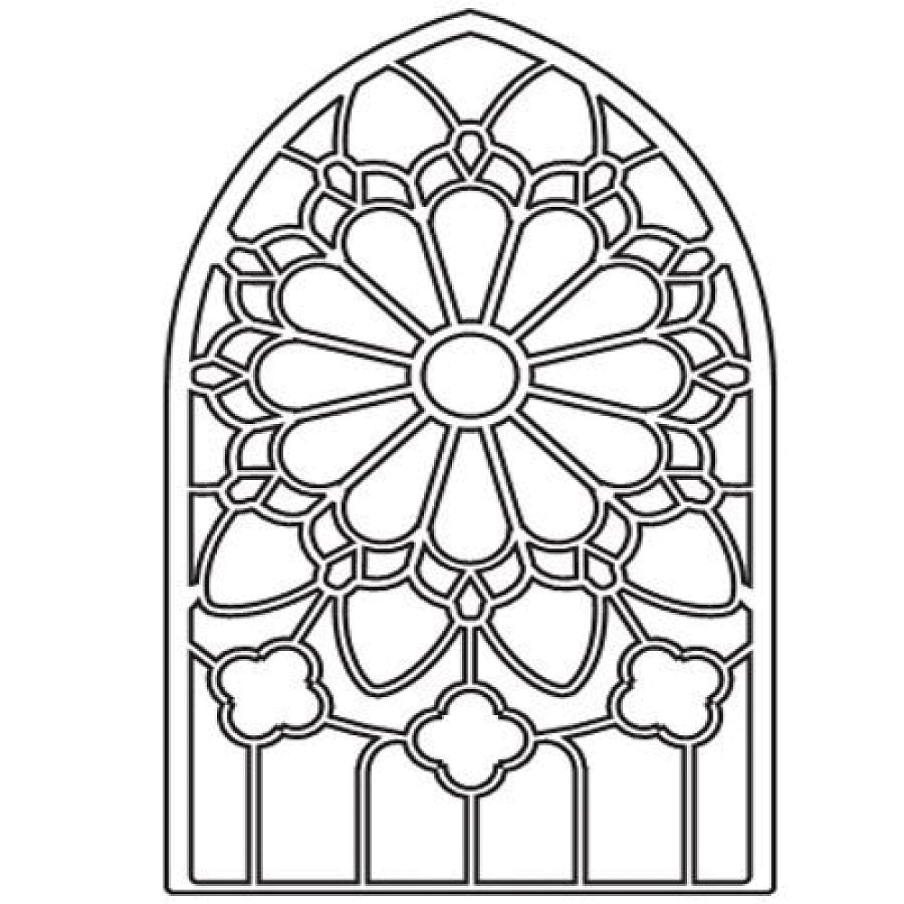 Clip Art Church Window Stained Glass Patterns
