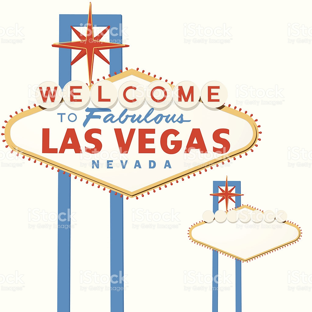 Clip Art, Cut Out, Famous Place, Illustration, No People. Las Vegas Sign ...