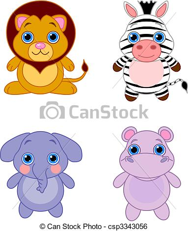 Clip Art Cute Animal Clipart cute animal clipart illustrations clipartall animals set 04