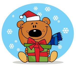 Clip Art Cute Christmas Gift .-Clip Art Cute Christmas Gift .-3