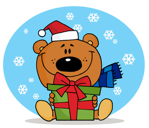 Clip Art Cute Christmas Gift  - Cute Christmas Clipart