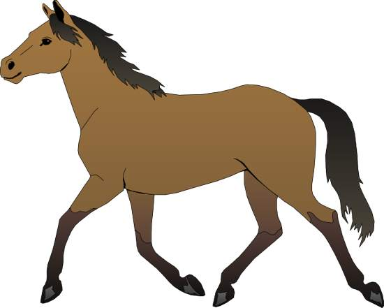 Horse brown. Clipart free clipartlook