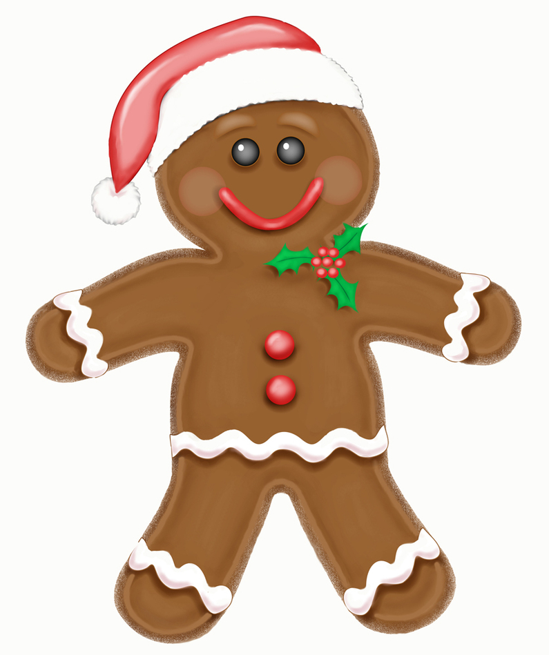 Clip Art Dav 1dp Gingerbread Man In Lights Xmas. Math Towersoudankindergarten