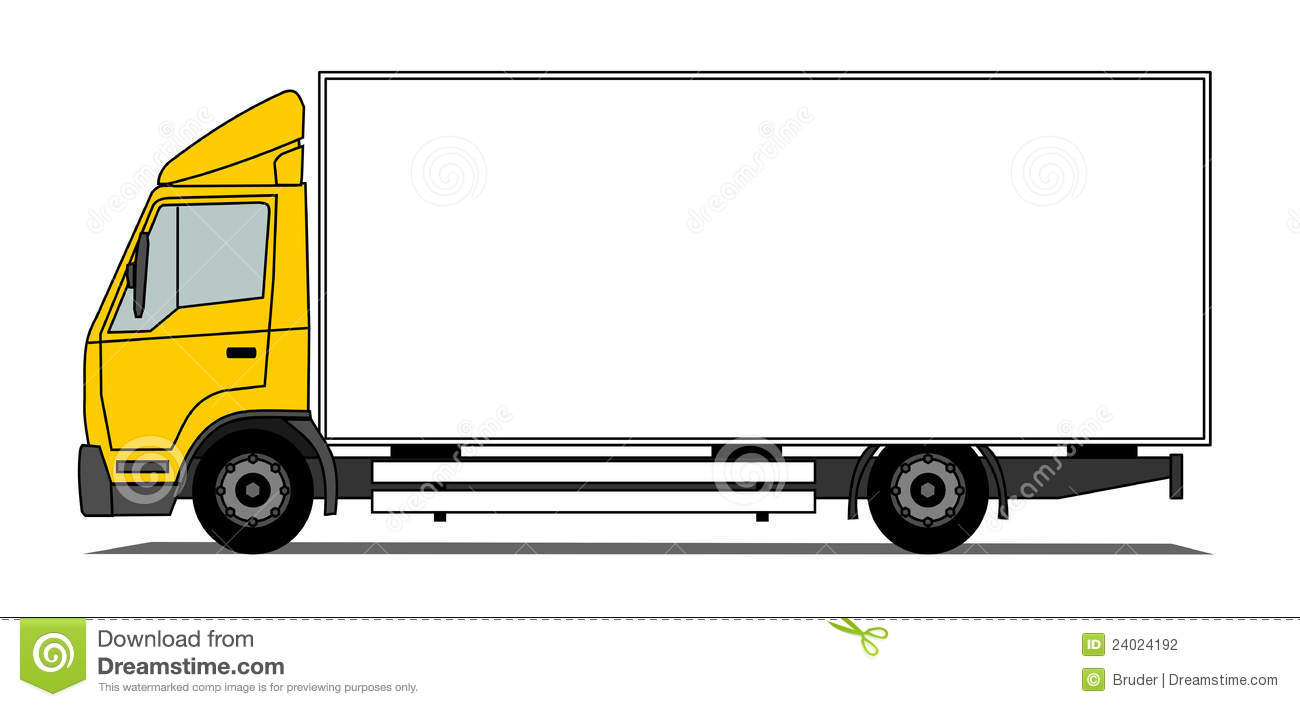 Clip Art Delivery Truck Blank - Delivery Truck Clipart