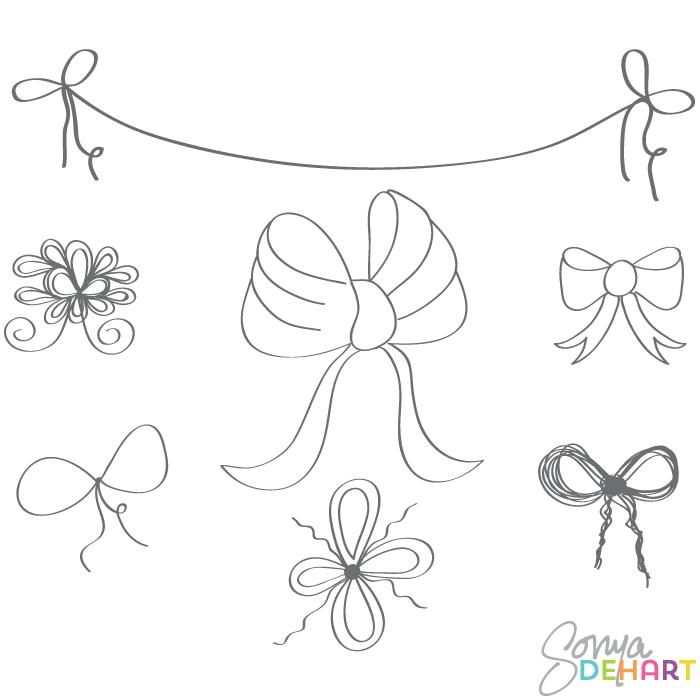 Clip Art Doodle Bows And .-Clip Art Doodle Bows and .-3