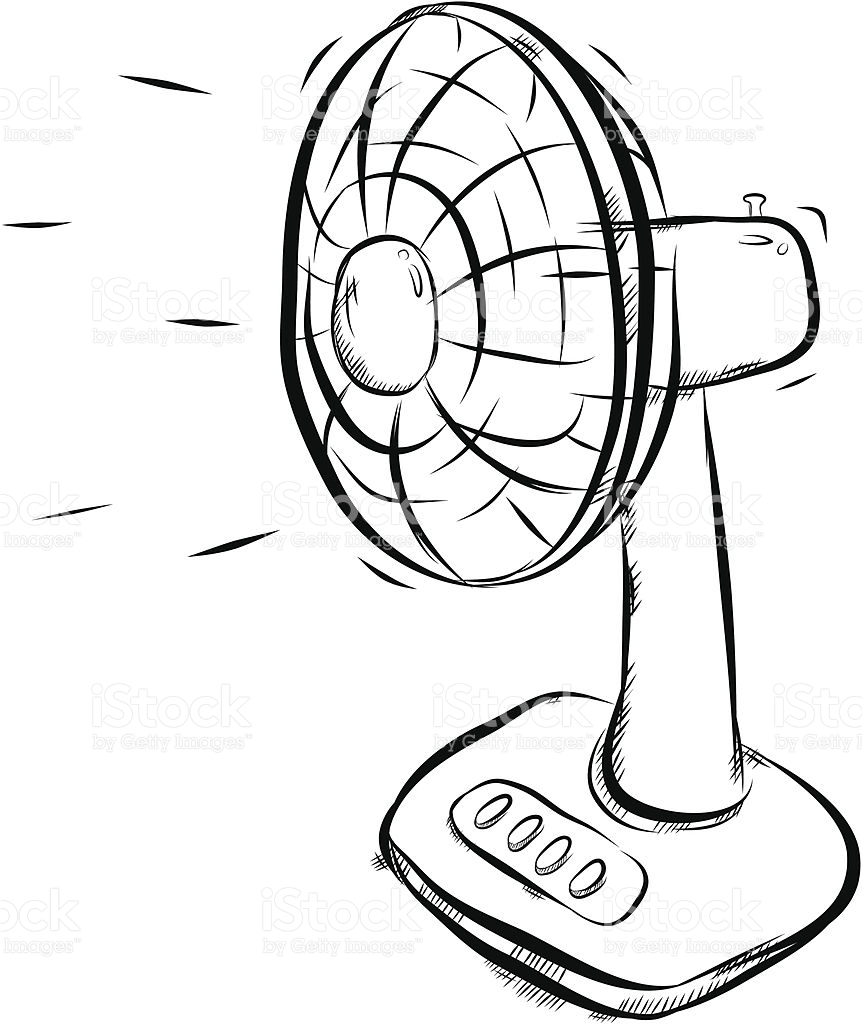 Clip Art Fan Clipart electric fan clipart black and white clipartfox vector art