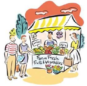 clip-art-farmers-market.jpg (281×280) | Illustration Style Collection | Pinterest | Market stalls, Clip art and Art