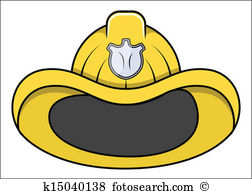 Clip Art. Fireman Hat - Vector Illustrations