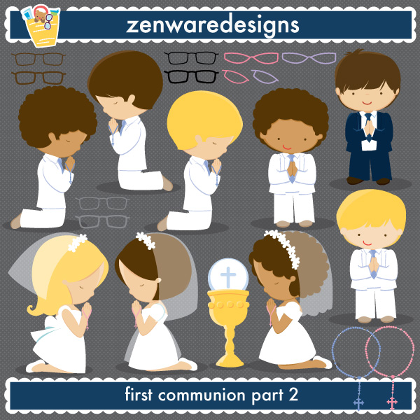 Clip art, First communion .