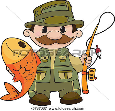 Clip Art. fisherman