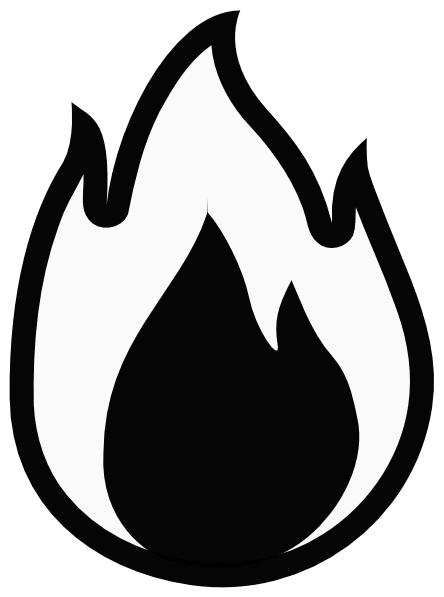 Clip Art Flame Clip Art fire flames clip-Clip Art Flame Clip Art fire flames clipart black and white panda free clipart-13