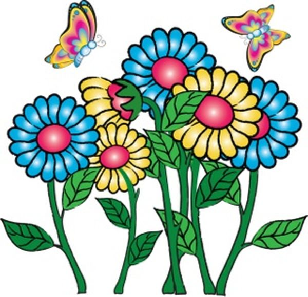 Clip art flowers and butterflies | Free -Clip art flowers and butterflies | Free Reference Images-15