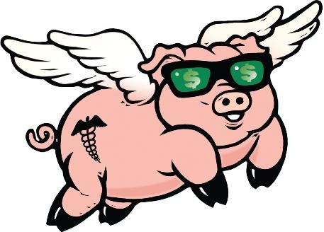 Clip Art Flying Pig - Flying Pig Clipart
