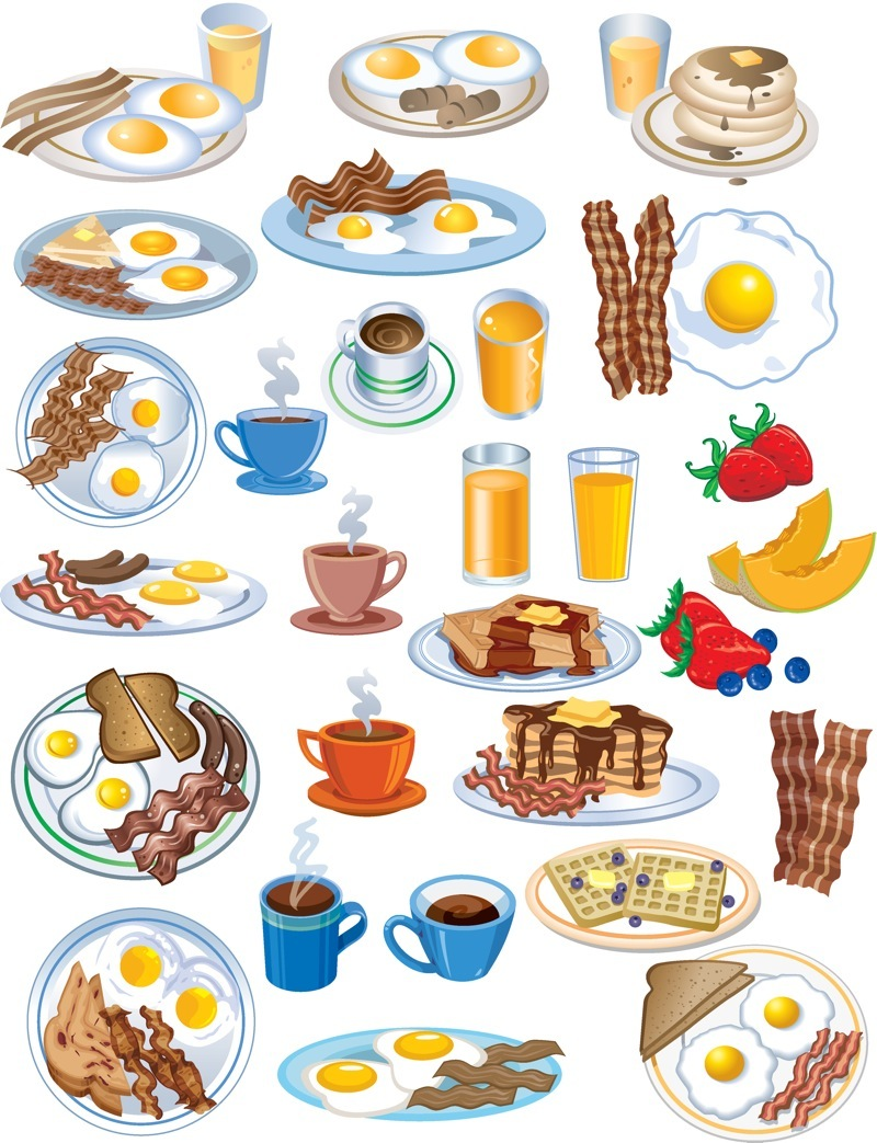 Clip Art Food Breakfast .-Clip art food breakfast .-3