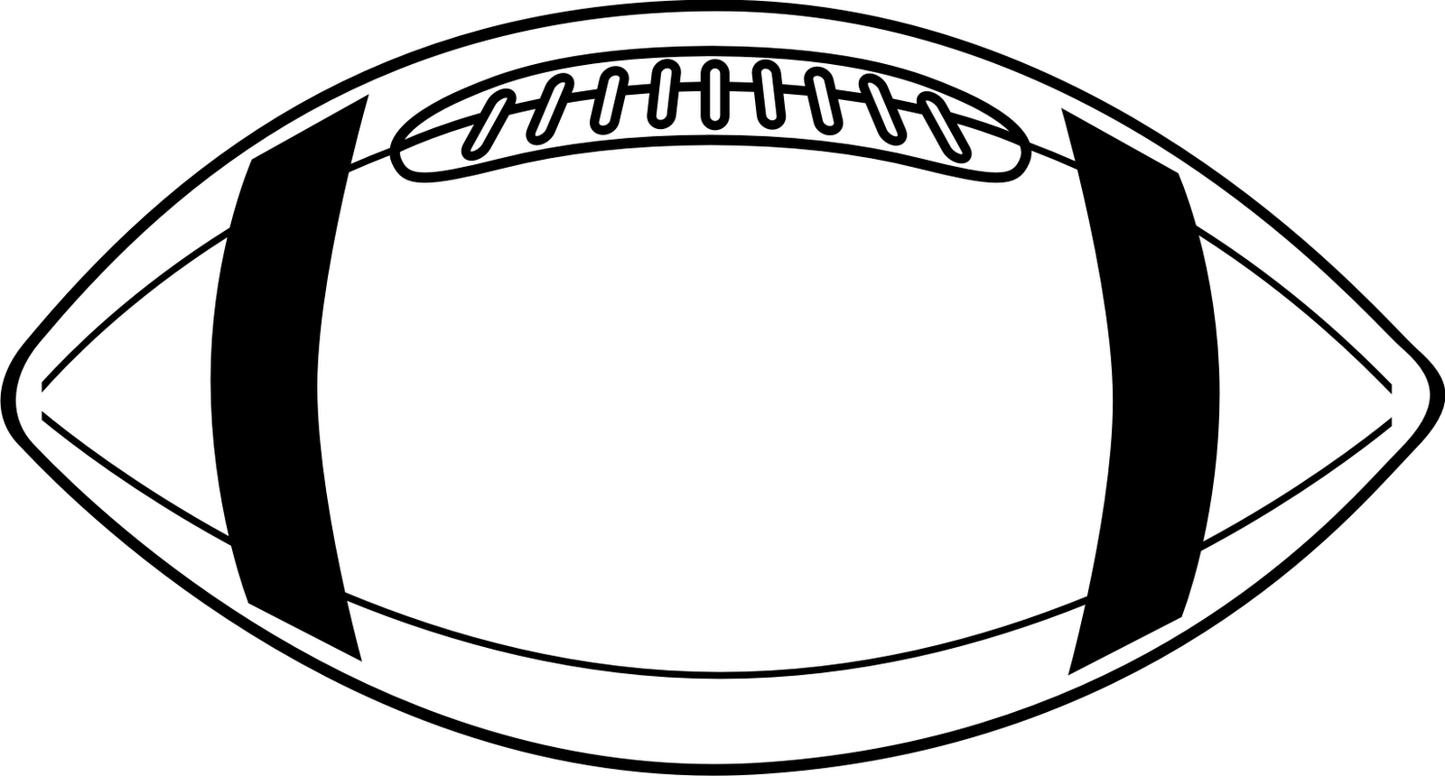 Clip Art Football Field Black - Football Clipart Black And White