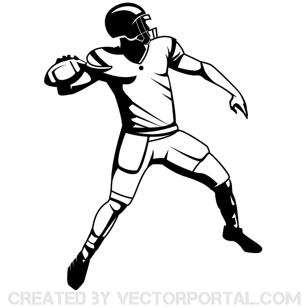 Clip art football player . - Football Player Clipart