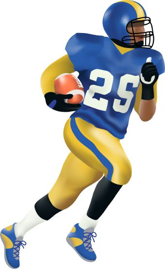 Clip art football player free clipart images image