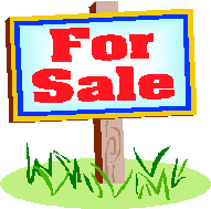 ... Clip art for sale sign ...