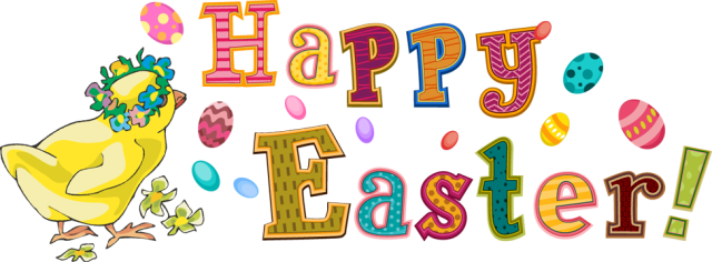 Happy easter transparent clipart
