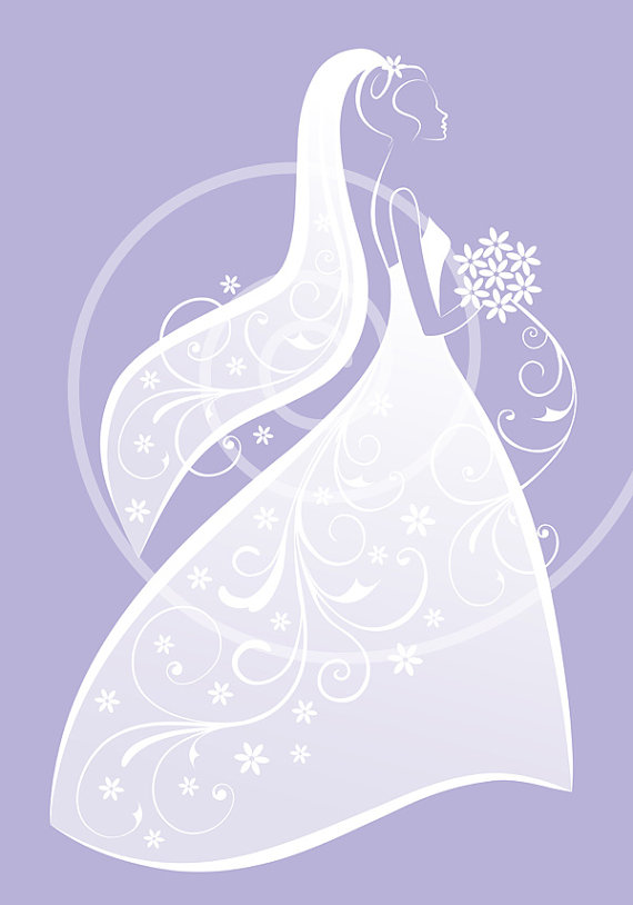Clip Art Free Wedding Shower · Bride In-Clip Art Free Wedding Shower · Bride In White Wedding Dress Bridal Shower  Weddingillustree-15