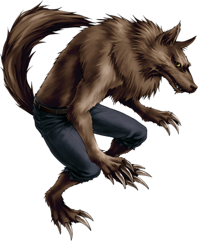 Clip Art: Friendly Werewolf. Halloween G-Clip Art: Friendly Werewolf. Halloween Graphics-4