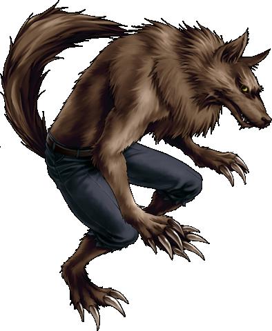 Clip Art: Friendly Werewolf. Halloween Graphics