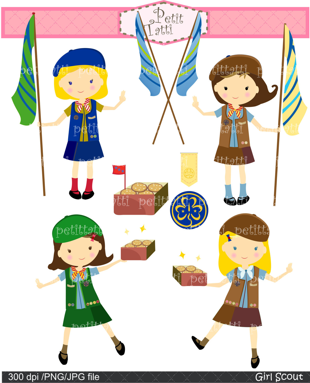 Clip Art Girl Scouts Clipart Panda Free Clipart Images