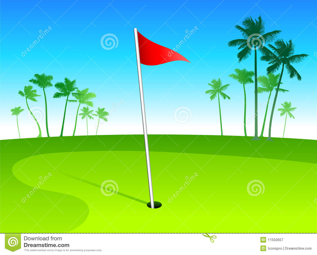 Clip Art Golf Course Greens