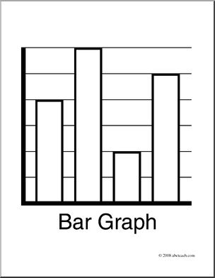 Clip Art: Graphing: Bar Graph (coloring page) - preview 1